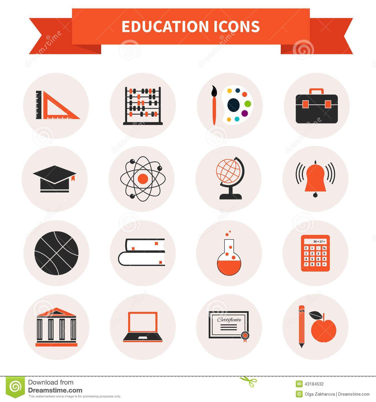 Schulfächer Symbole