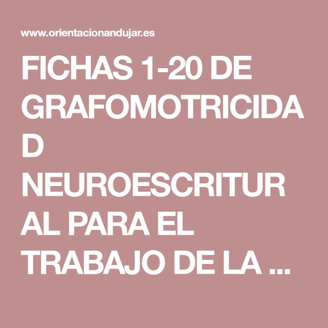 Fichas 1 20 De Grafomotricidad Neuroescritural Para El Trabajo De
