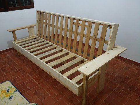 Sofa cama futon modelo Indiano casal Kotton Futons - YouTube ...