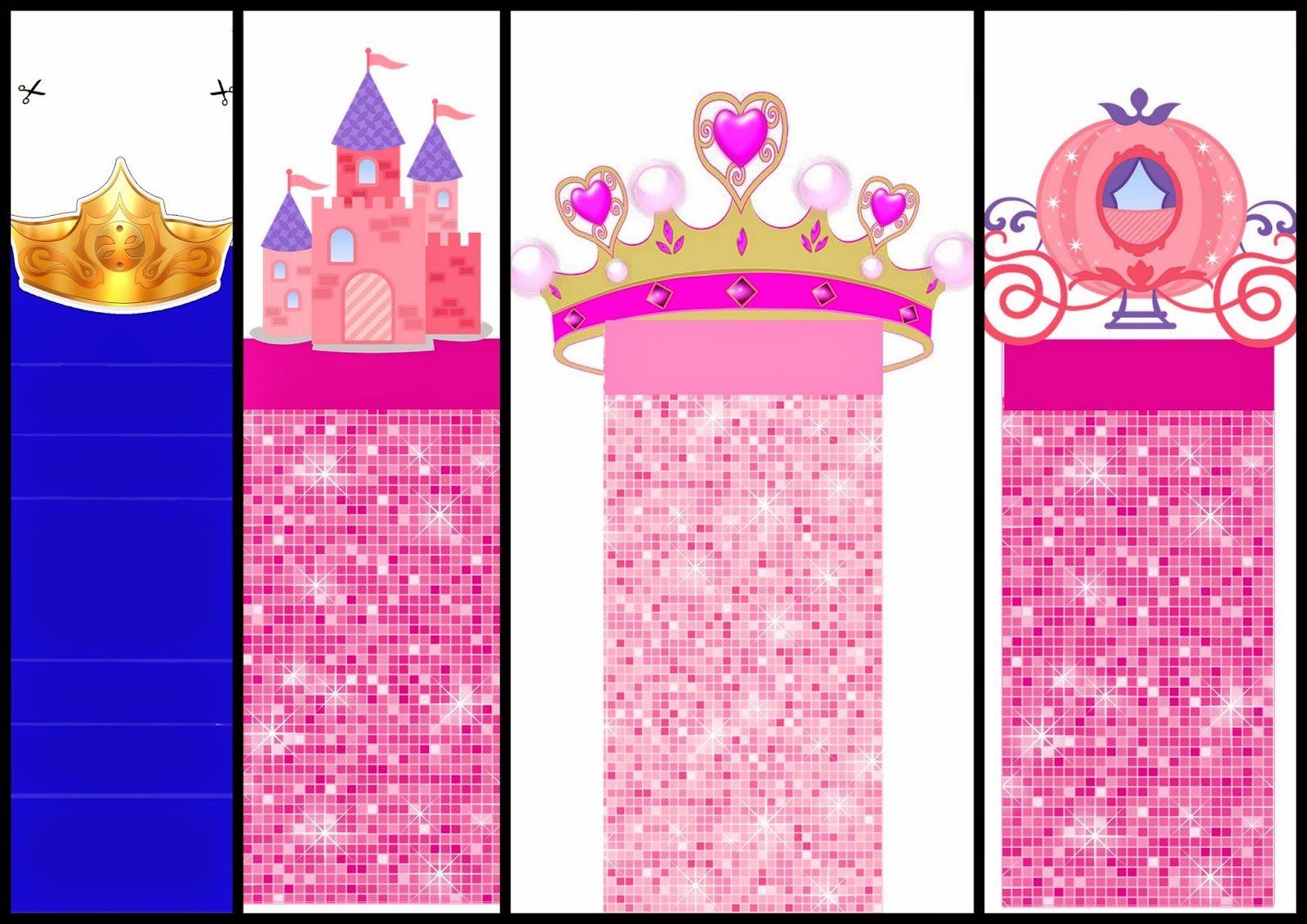 Princesas: Envoltorios Especiales para Golosinas, para Imprimir ...