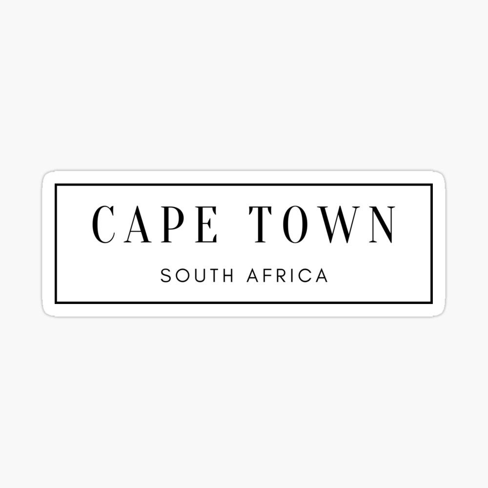 Cape Town South Africa Glossy Sticker By Mindfultravel Cape Town South Africa Cape Town South Africa [ 1000 x 1000 Pixel ]