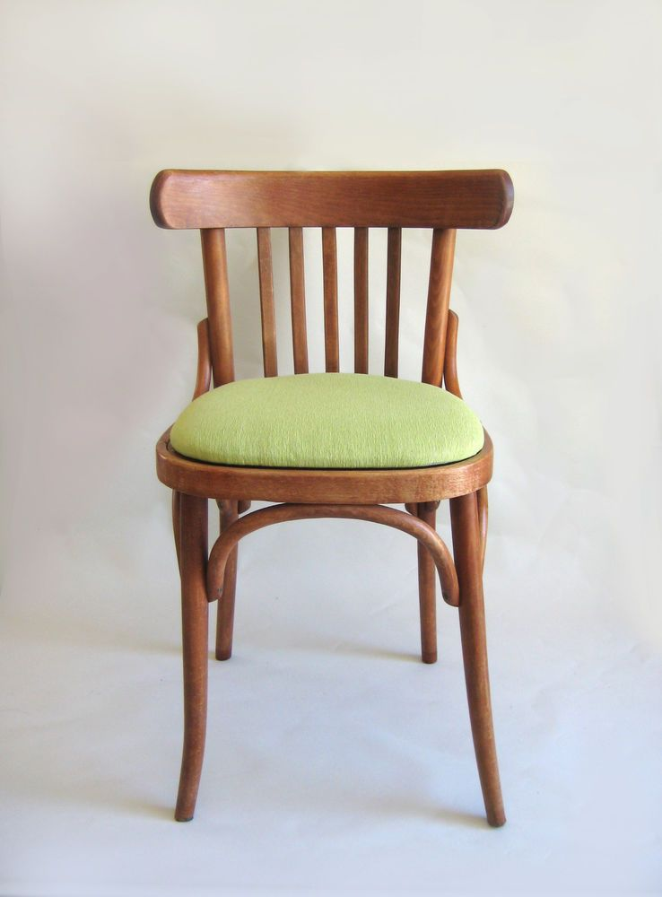 Retro Cafe Dining Chairs Rolling On Hardwood Floors Set Of 4 Vintage Bentwood Mid Century Bistro