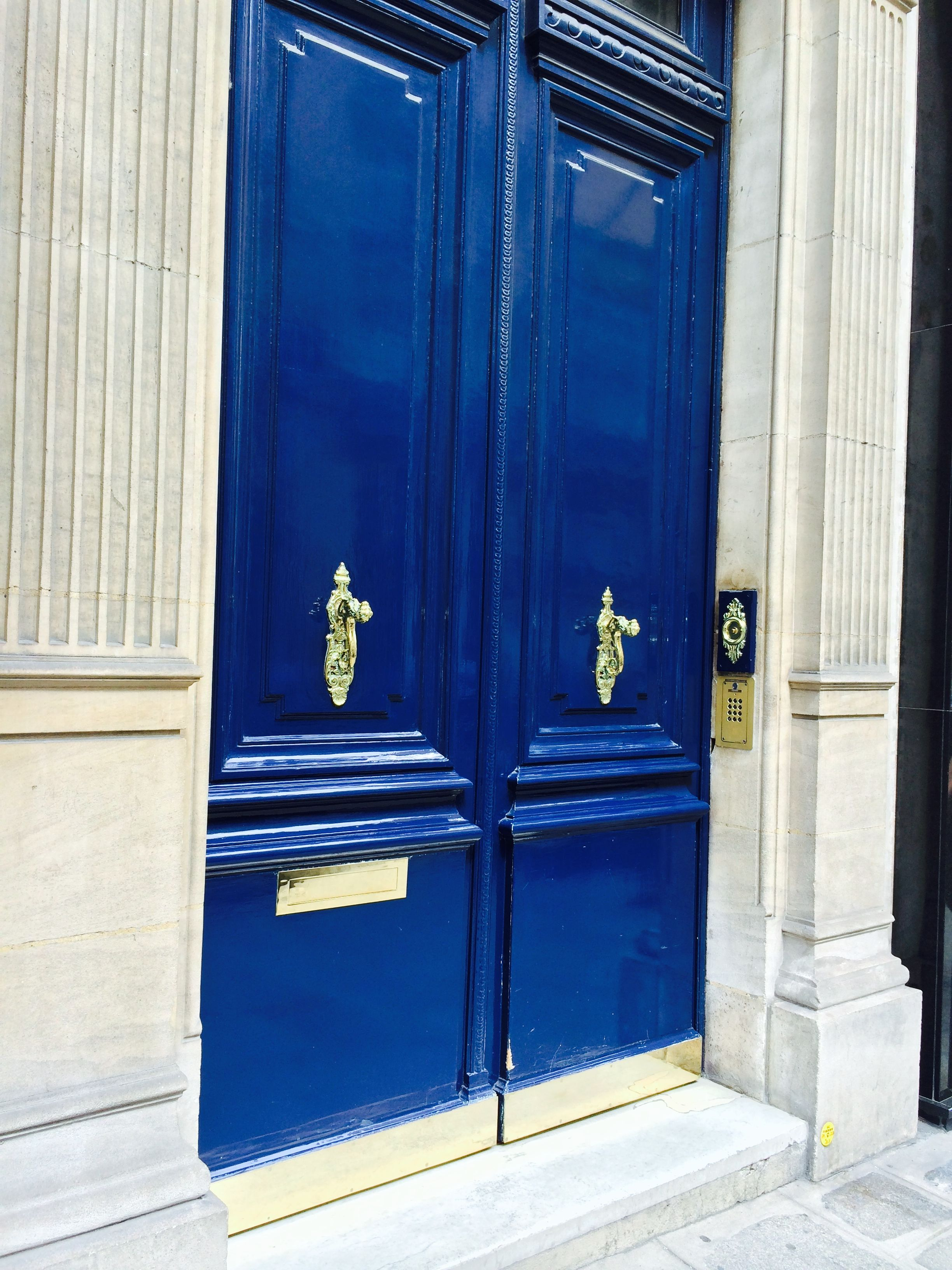 French Gate door. Beautiful blue color!