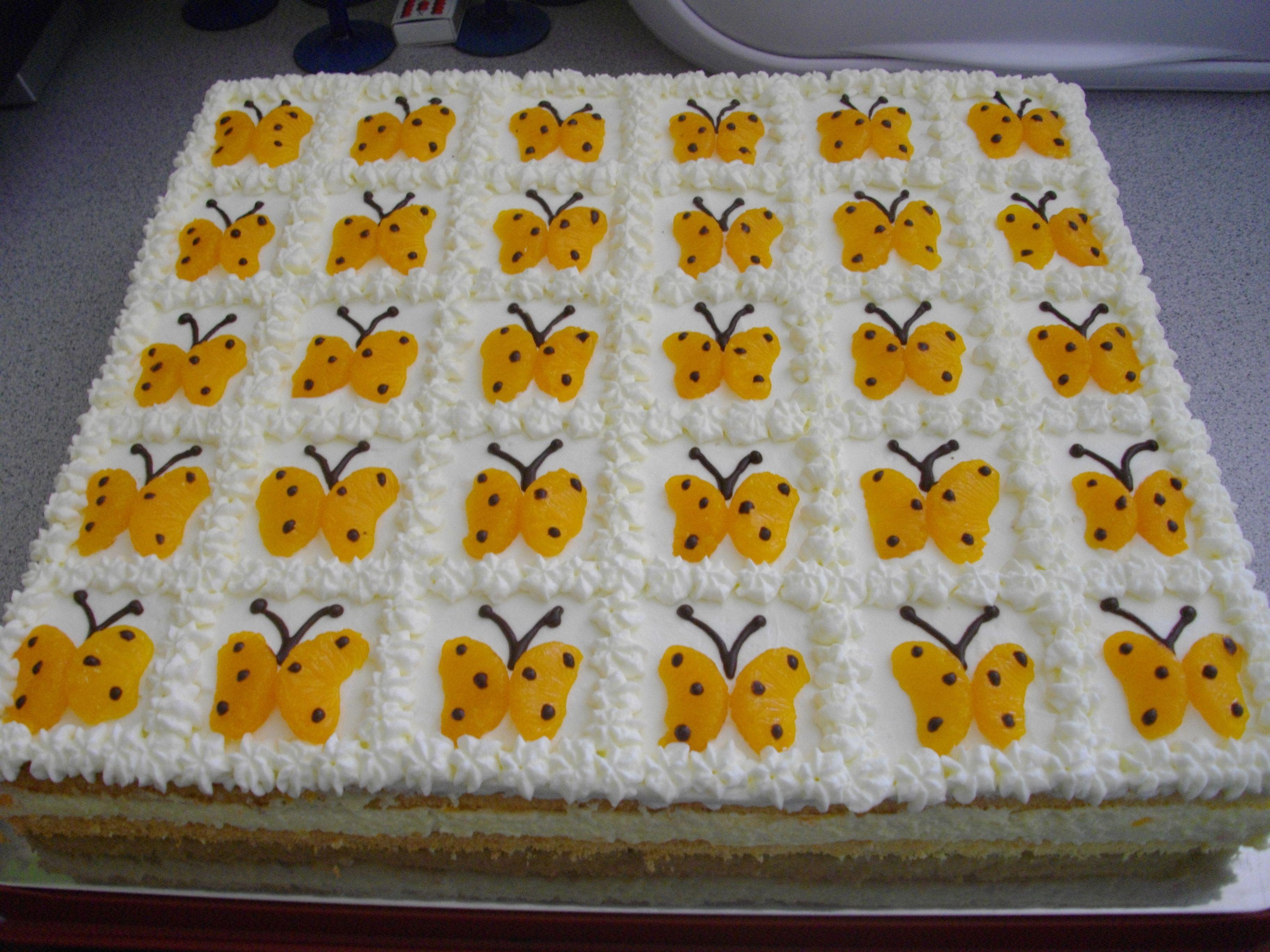 Schmetterlings Torte  Cakes  Kuchen kindergeburtstag