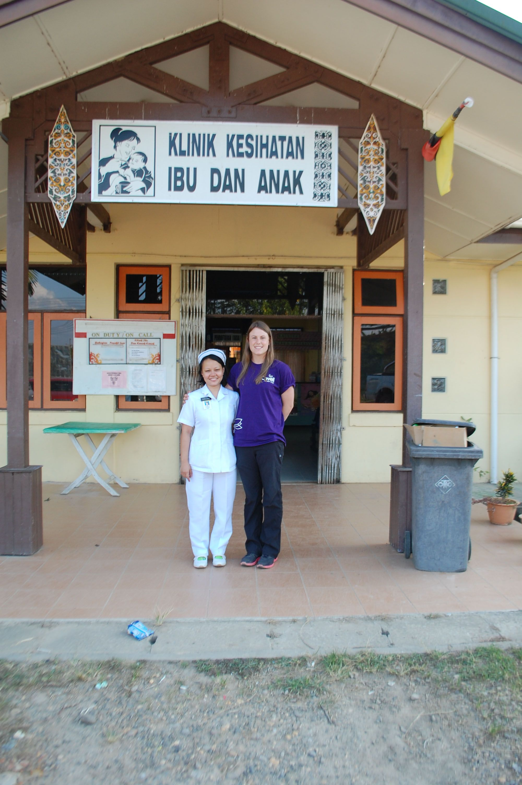 Katie Ball our Outstanding Student Nurse 2012, at Sarawak General Hospital in Malaysia #Nursing #Cavell #student #placement
