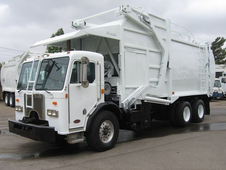 2002 Peterbilt 320 With E Z Pack Front Loader Caterpillar C 10 335hp Engine Allison Hd4560 Automatic E Z Pack 40y Commercial Vehicle Peterbilt Garbage Truck