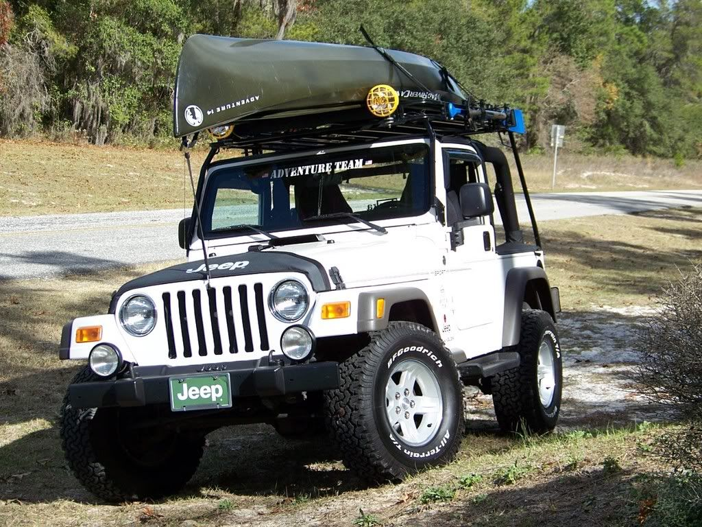 14 Ft Canoe On A Wilderness Rack By Garvin · Jeep TjJeep ...