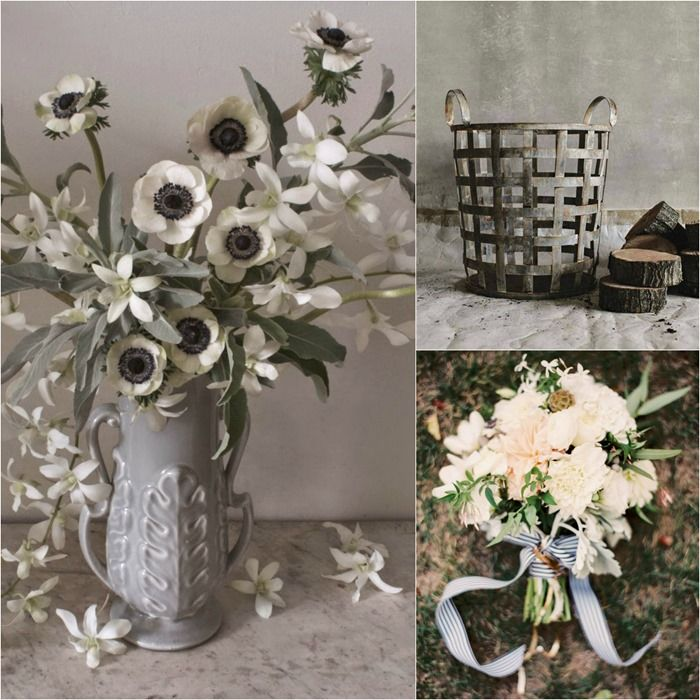 Left: Ariel Dearie Flowers Right: (top) Isabella Sparrow (bottom) Lovely Little Details   Jessica Burke Photography