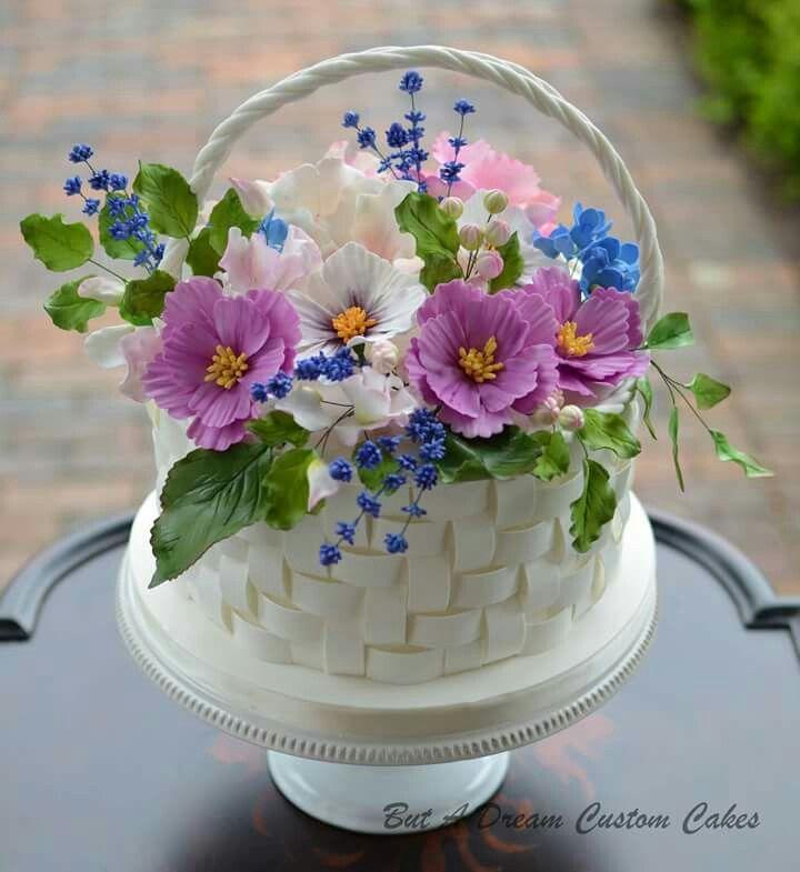 торт ваза с цветами фото всё ничего