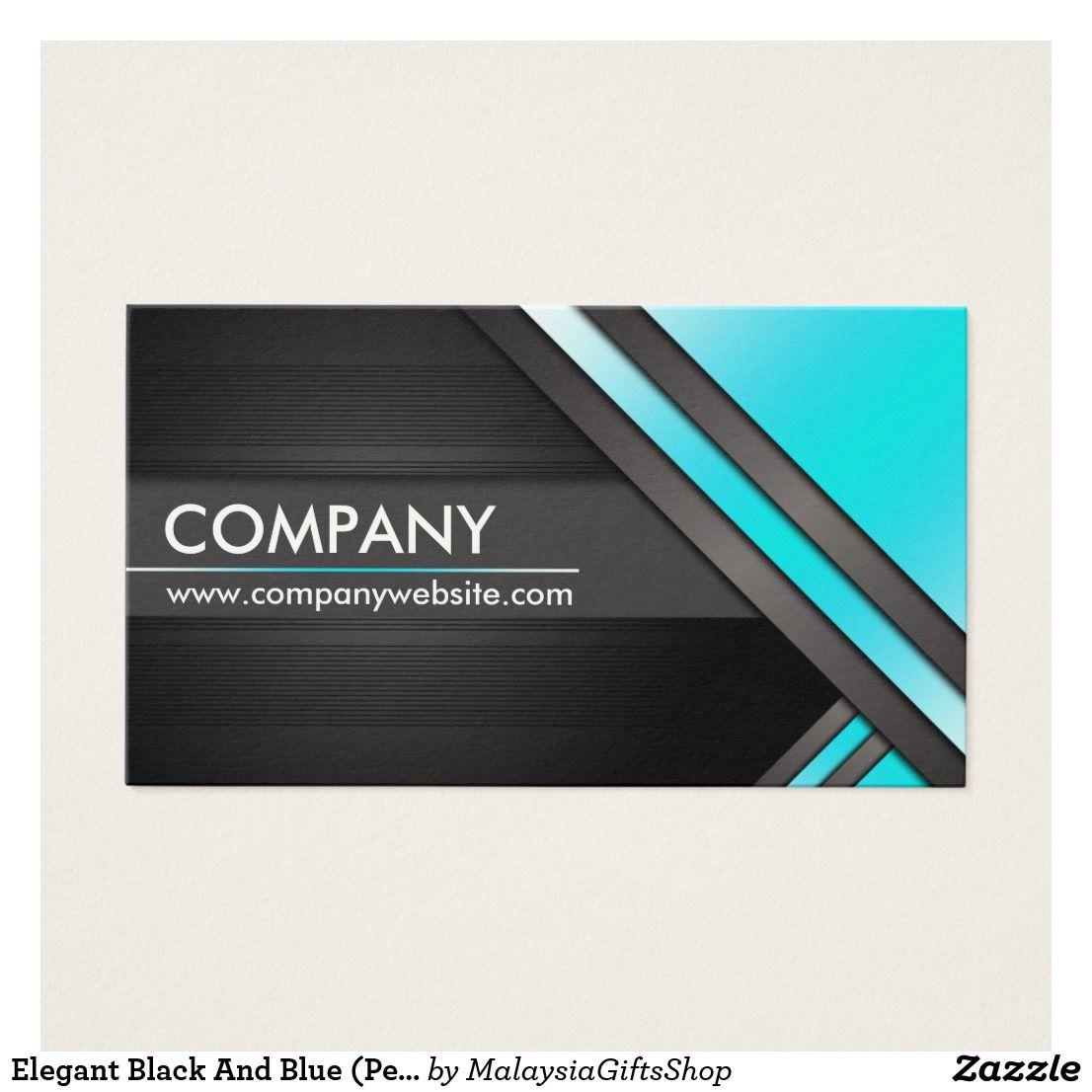 Elegant Black And Blue (Personalize) Business Card | Elegant ...