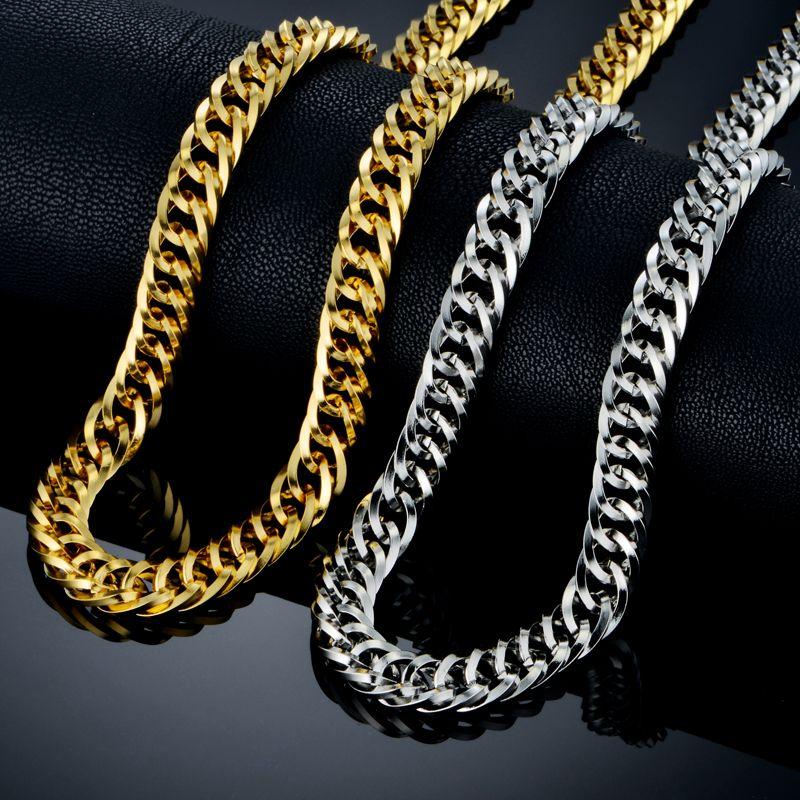 Hip Hop Chains For Men Collares Wholesale Gold Color Rock Big ...