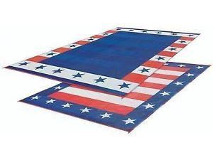 Rv Patio Mat American Flag Awning Mat Usa Camping Mat Trailer