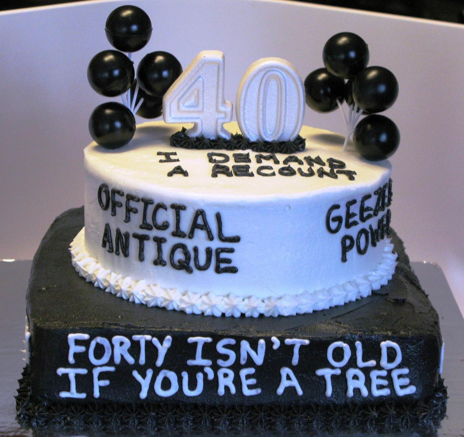 40th Birthday Cake Ideas Funny 40th Birthday Cake Ideas and