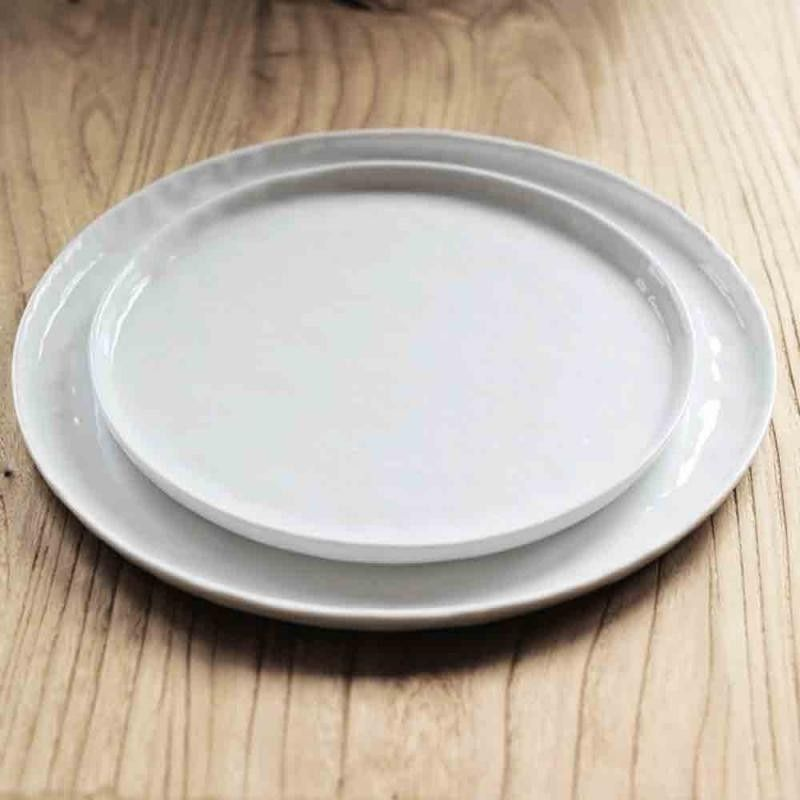 Crumple  Dessert Plate and Large Dinner Plate & Crumple