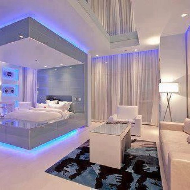 Kate Would Love The Lights Reminds Me Of A Cruise Ship Futuristic Bedroom Awesome Bedrooms Bedroom Design