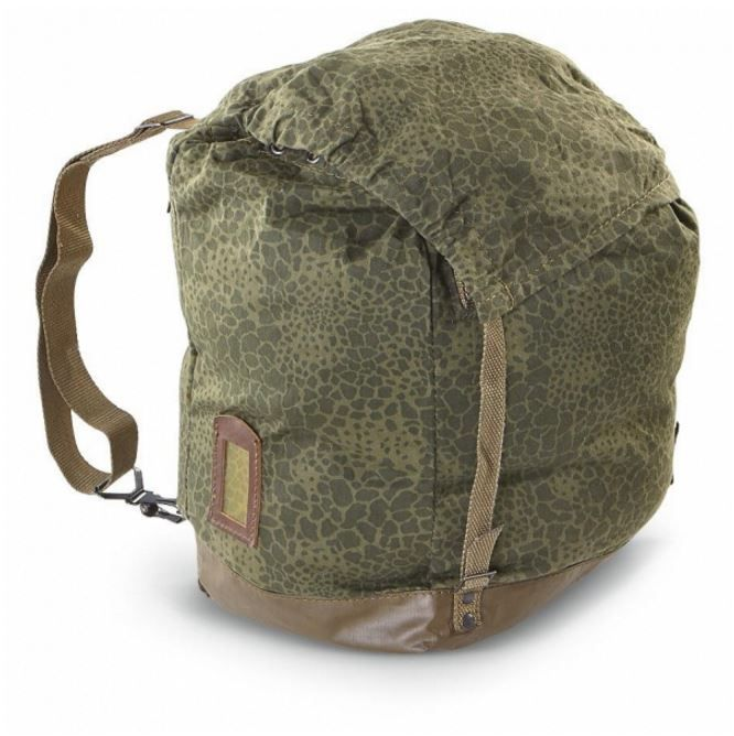 """POLISH LEOPARD CAMO BACKPACK.   A new Surplus item! The Russian leopard camo Backpack in used, very good condition. This Russian Army issue backpack has canvas straps and a reinforced waterproof bottom. Extended it measures 27""""tall and 20"""" wide 12"""" deep 14"""" inches with the extension folded in. It only weighs 2 pounds."""
