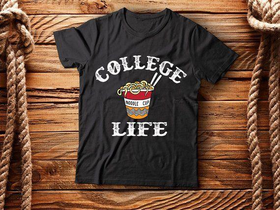 Short-Sleeve Unisex T-Shirt College Life, Ramen T-shirt, ramen, Ramen shirt, Ramen noodles, funny Ramen tshirt, Ramen life, Ramen lover – Products