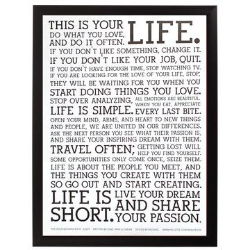 I liked this design on #Fab. The Holstee Manifesto Poster