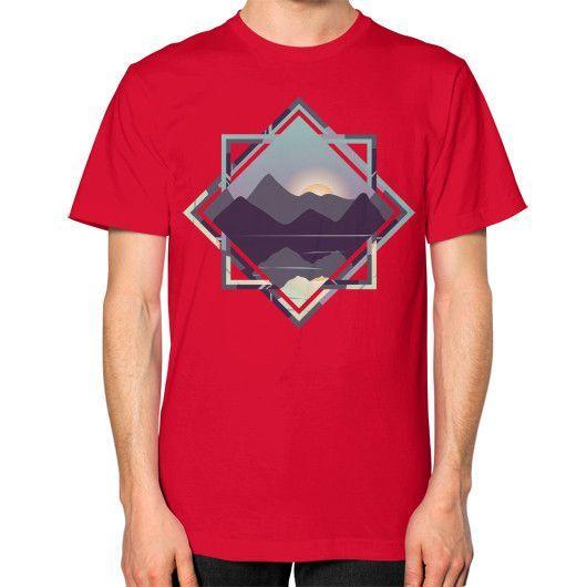 Framed Sunset Unisex T-Shirt (on man)