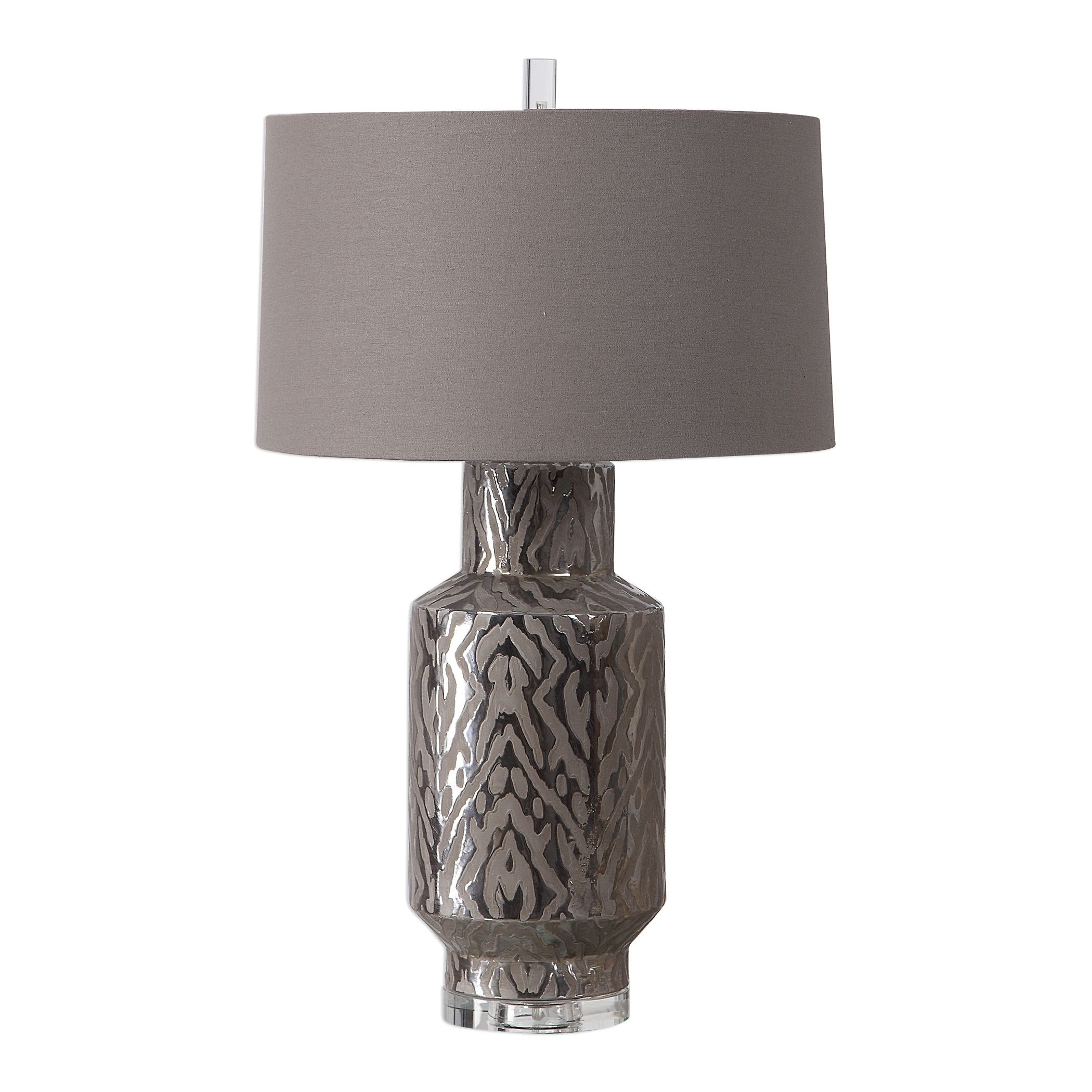 Uttermost Zelda Metallic Bronze Table Lamp Brown Ceramic With Images Bronze Table Lamp Lamp Table Lamp