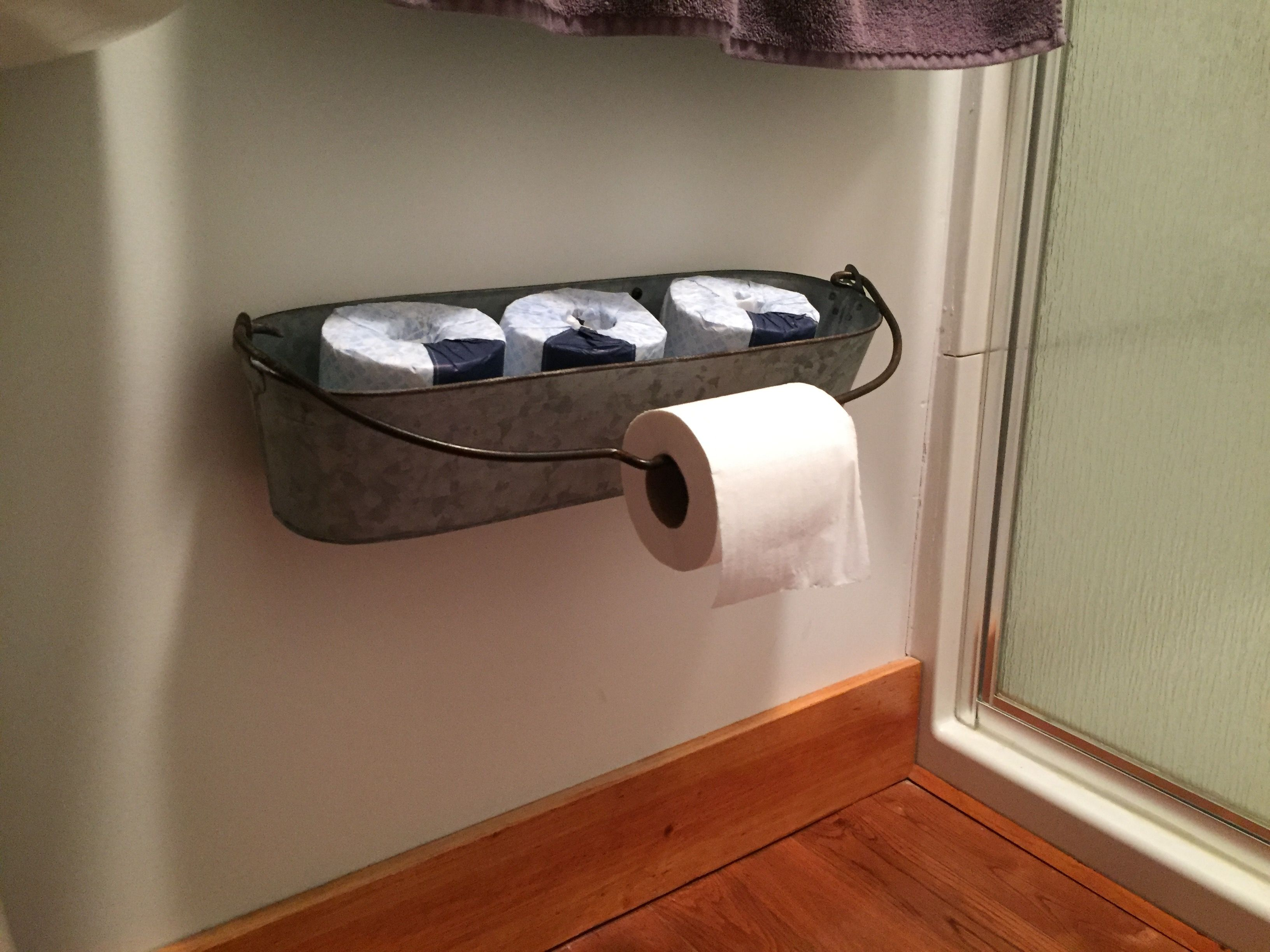 Rustic toilet paper holder
