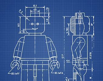 Lego blueprint patent wall art poster 4 decor pinterest lego blueprint patent wall art poster 4 malvernweather Images
