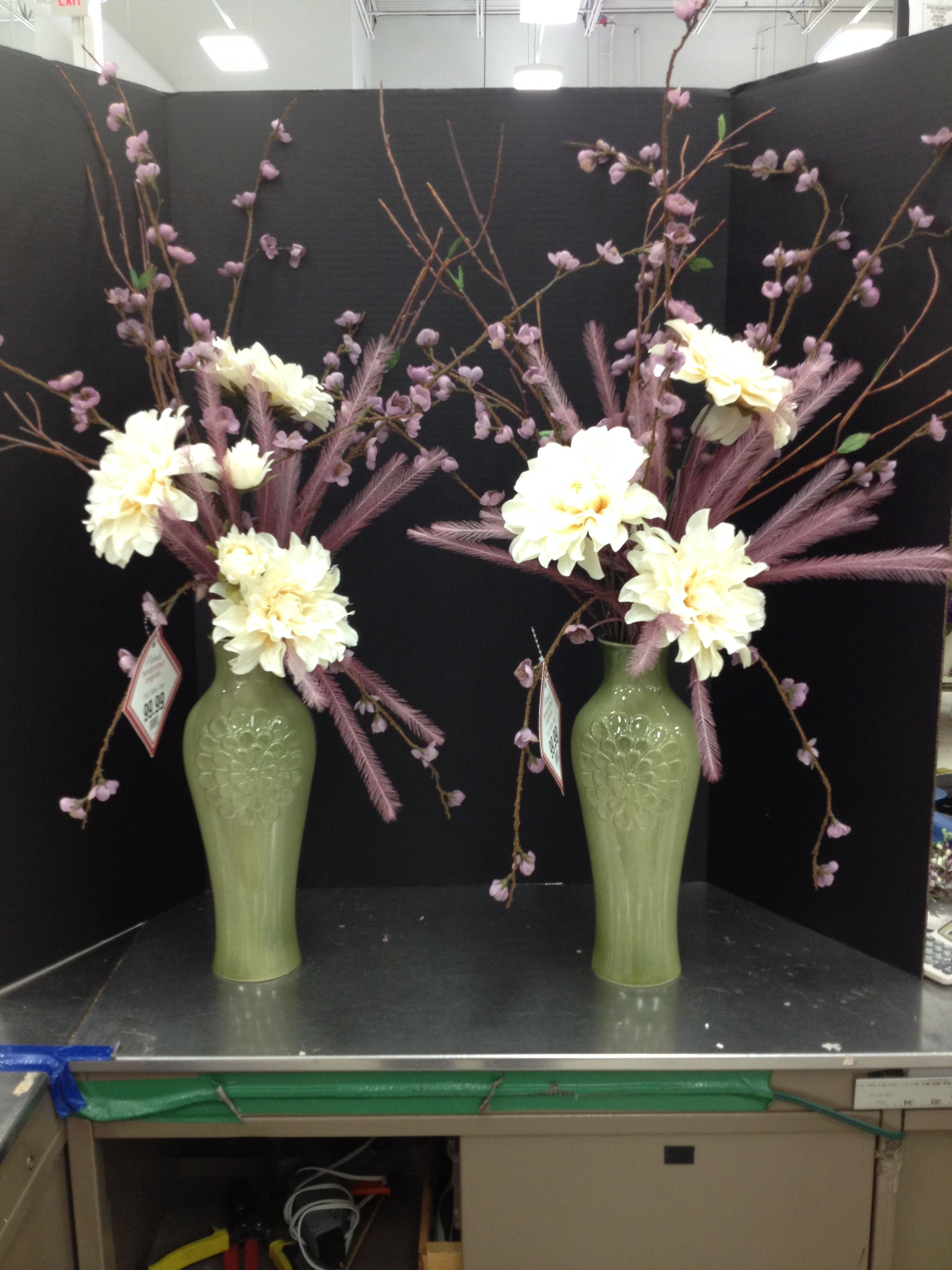 2 matching fall vases CK