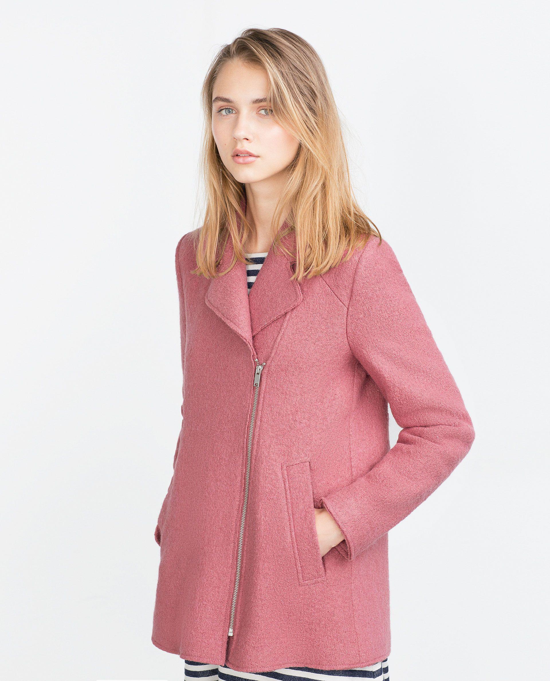 2fa5bb348bb0f Zara Zara Abrigos Closet Abrigo Solapas A España Mujer w6z8nt1qg