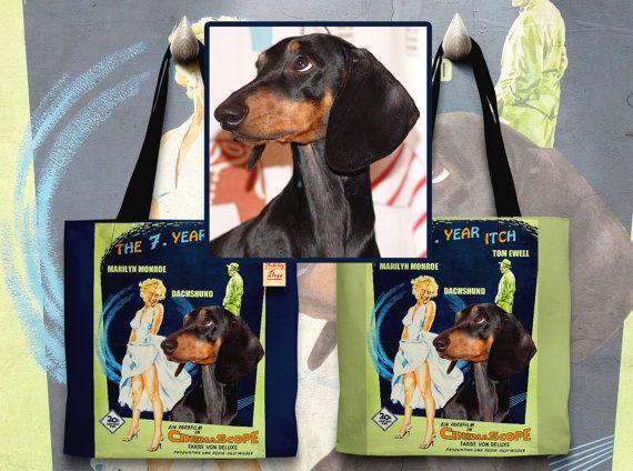 CUSTOM Dog Portrait ,Cat Portrait, Dog Art Tote Bag Movie Poster NEW by Nobility Dogs