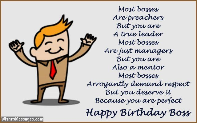Birthday Wishes For Mentors ~ Most bosses are preachers but you a true leader just managers