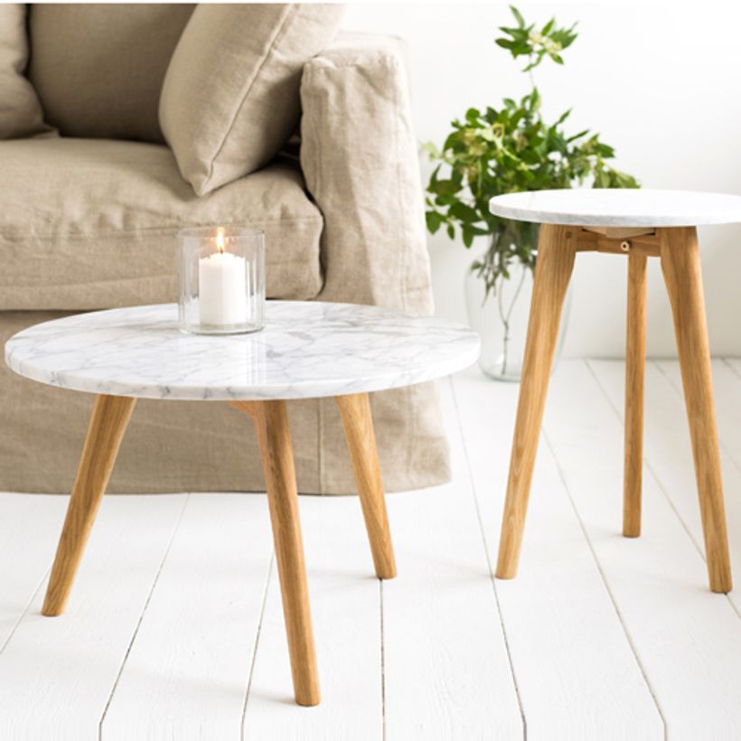 table basse marbre blanc