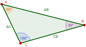 ángulos Interiores De Un Triángulo Geometría Plana Geometría Triangulos