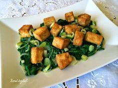Tofu con Espinacas