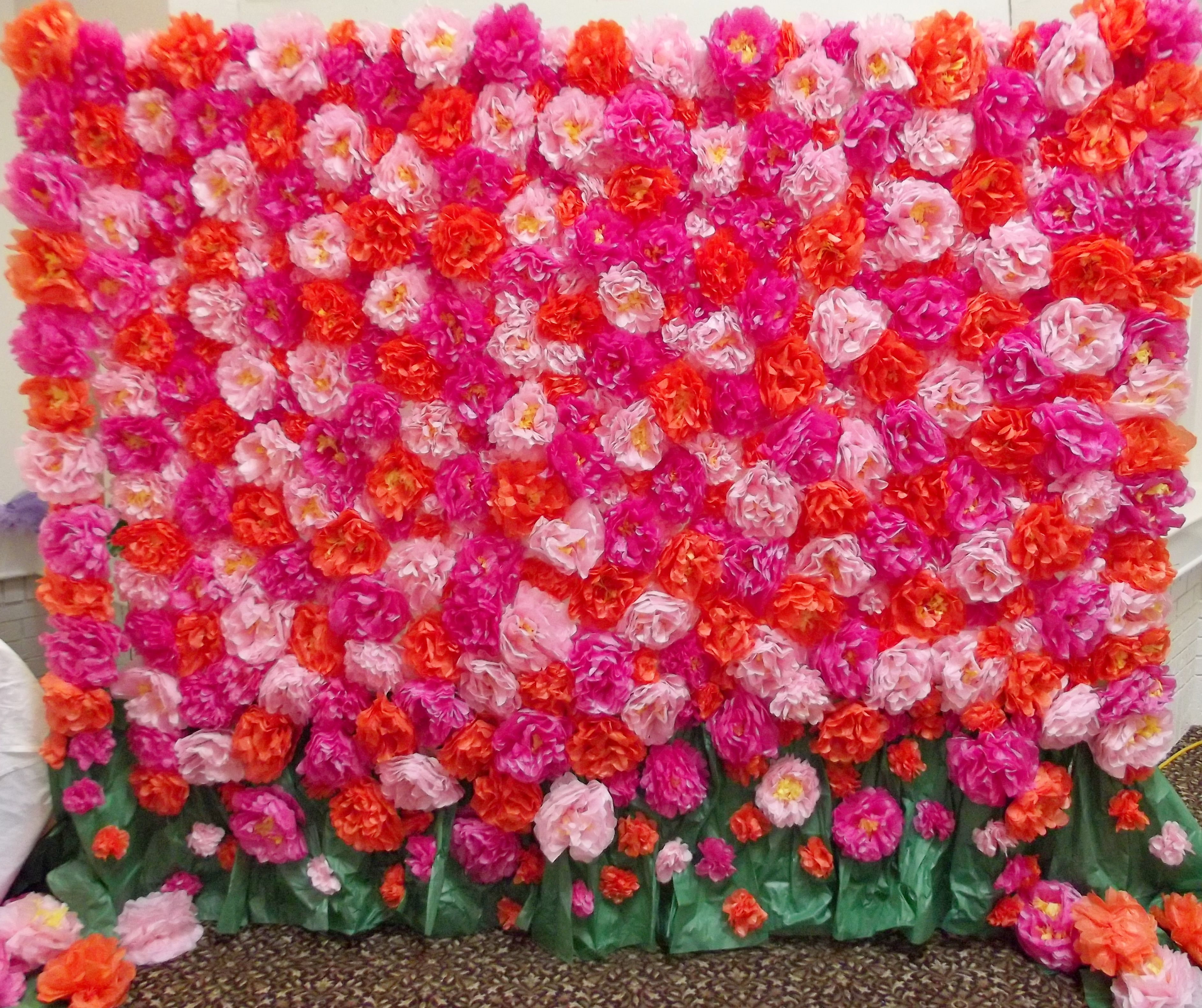 Flower wall photo backdrop hundreds of hand made tissue paper flower wall photo backdrop hundreds of hand made tissue paper flowers took over two weeks to make but worth every second mightylinksfo