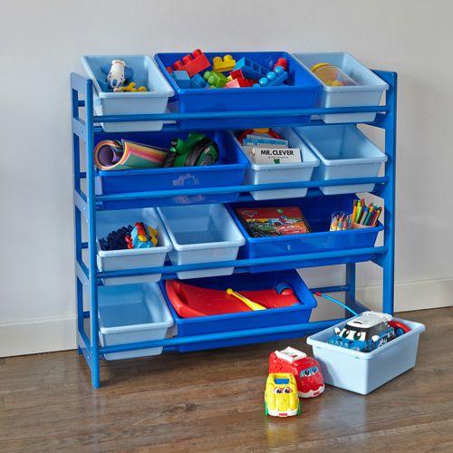4 Tier Toy Storage Unit   Blue