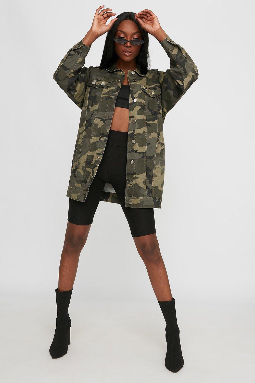 a348322619d34 Oversized Camo Denim Jacket - Camouflage / M in 2019 | CallMeCayla ...
