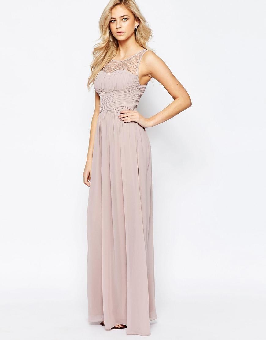 Little Mistress  Gathered maxi dress, Maxi dress prom, Ruched
