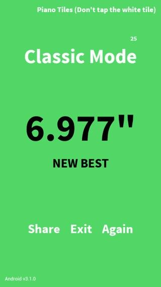 New high score on classic piano tiles