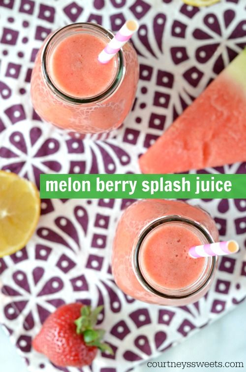 Melon Berry Splash Juice Recipe