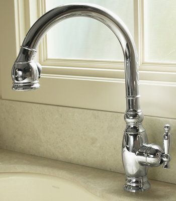 Kohler K 690 Single Handle Pullout Spray Kitchen Faucet From The Vinnata Collection 483 Kohler Kitchen Faucet Kitchen Sink Faucets Faucet