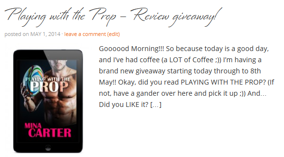 Playing with the Prop - review giveaway!
