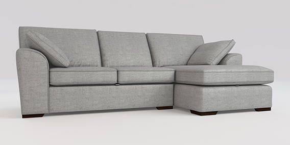 Buy Stamford With Storage Corner Chaise Right Hand 4 Seats Textured Weave Light Grey Large Square Angle Standard From The Ne Chaise Sofa Next Chaise Sofa