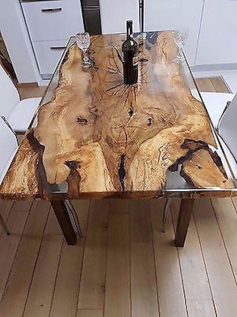 Diy Wood Slab Coffe Table Ideas 1 Wood Table Design Wood Resin