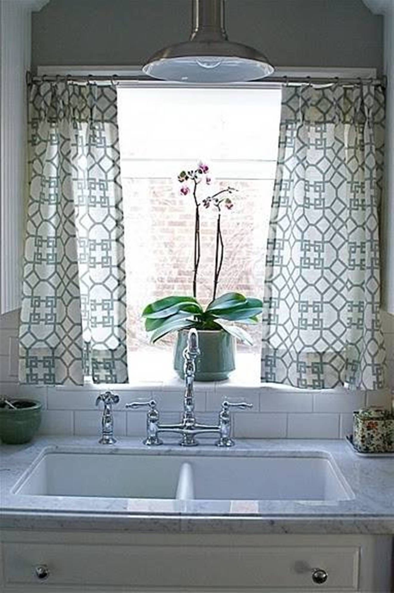 Pin By Sheila Taylor On For Home Kitchen Window Curtains Simple