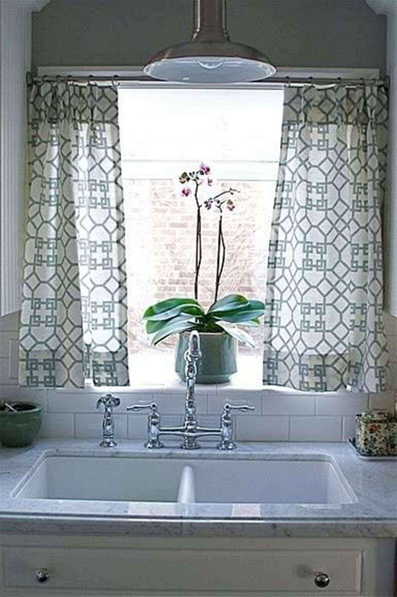 Kitchen Curtain Ideas Kitchen window curtains, Grey