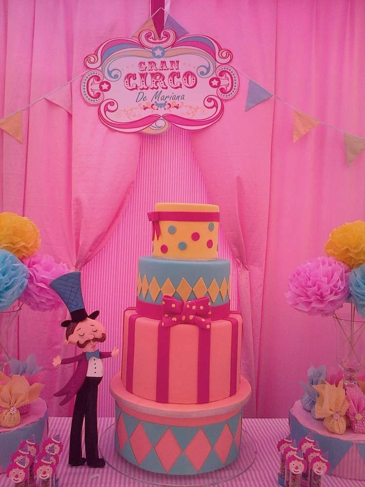 Circo para niña Birthday Party Ideas | Circo, Mariana y El grande