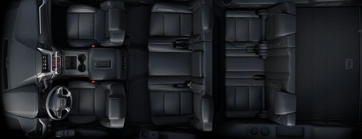 Black Interior Overhead Picture Of A Gmc Yukon Full Size Suv Gmc Yukon Gmc Yukon Xl Full Size Suv