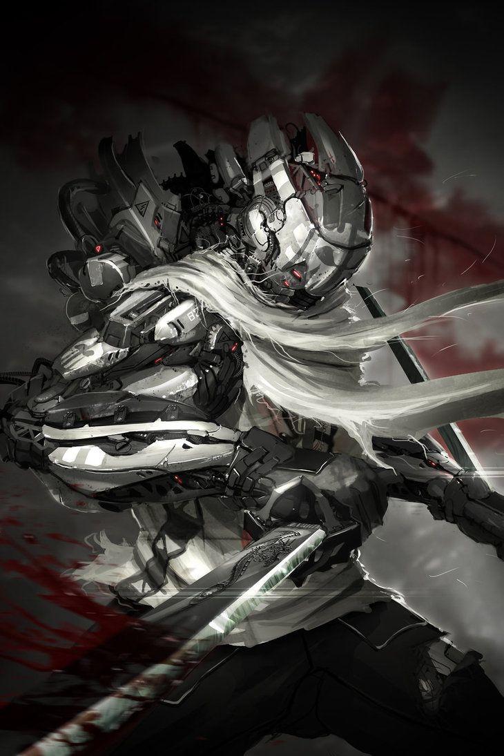 Ninja of Steel by ptitvinc on deviantART
