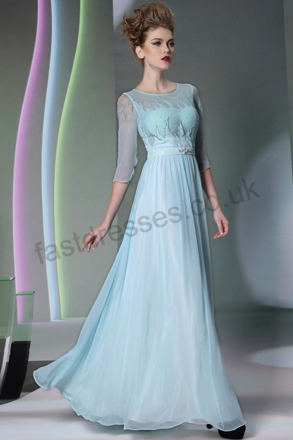 Fashionable V-neck Ivory Chiffon Floor Length Wedding Dress Long ...