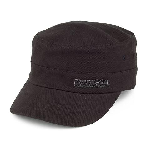 Kangol Cotton Twill Army Cap - Black | Kangol